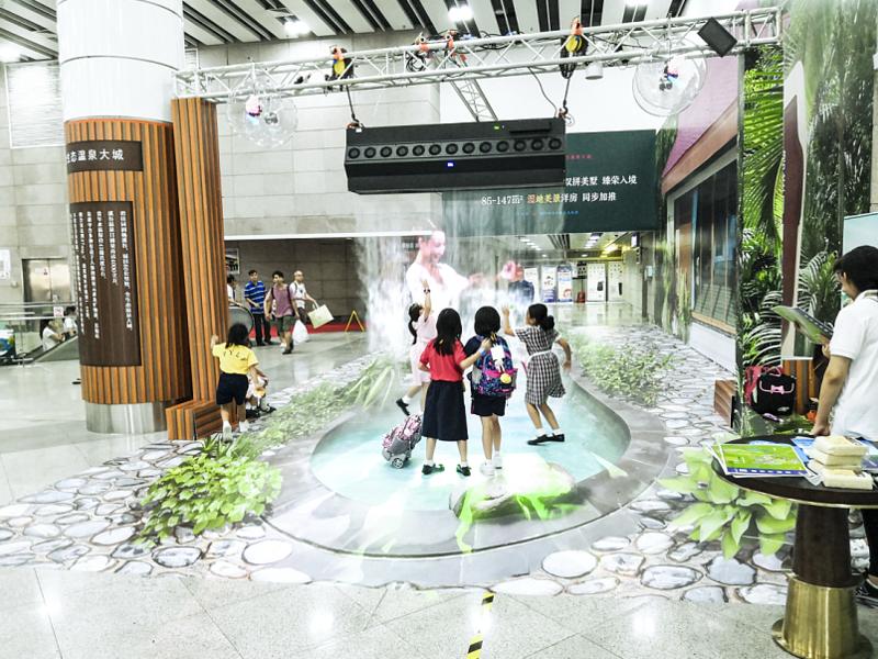 碧桂园创意互动巡展,让地铁惊现温泉