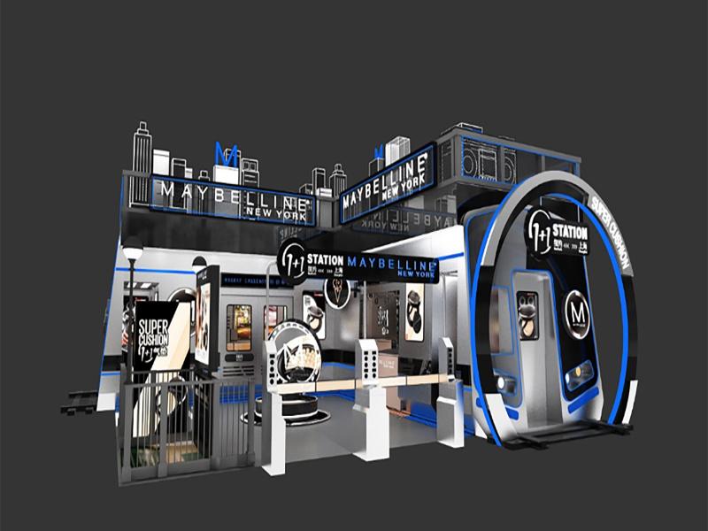 2018年美宝莲纽约地铁站-pop up store