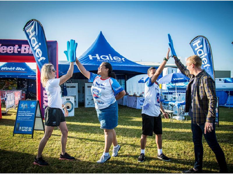 海尔新西兰儿童铁人三项比赛体育营销